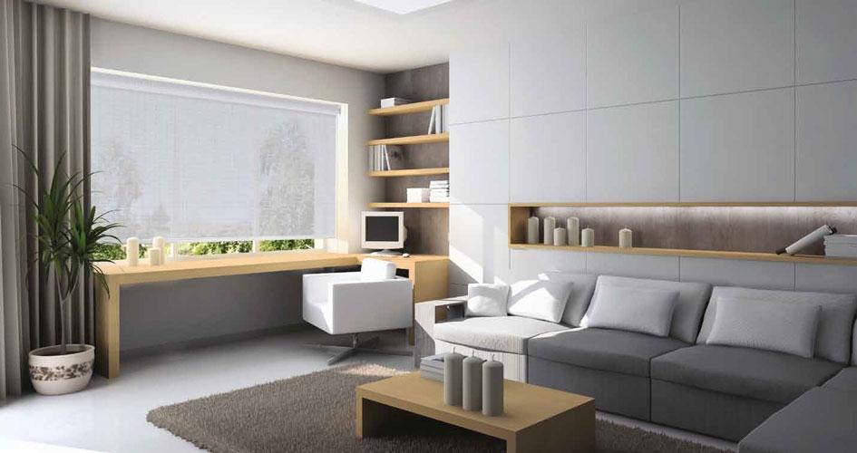Tipos de cortinas para ventanas afa pvc ventanas pvc for Estores para oficinas