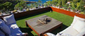 Césped artificial terrazas