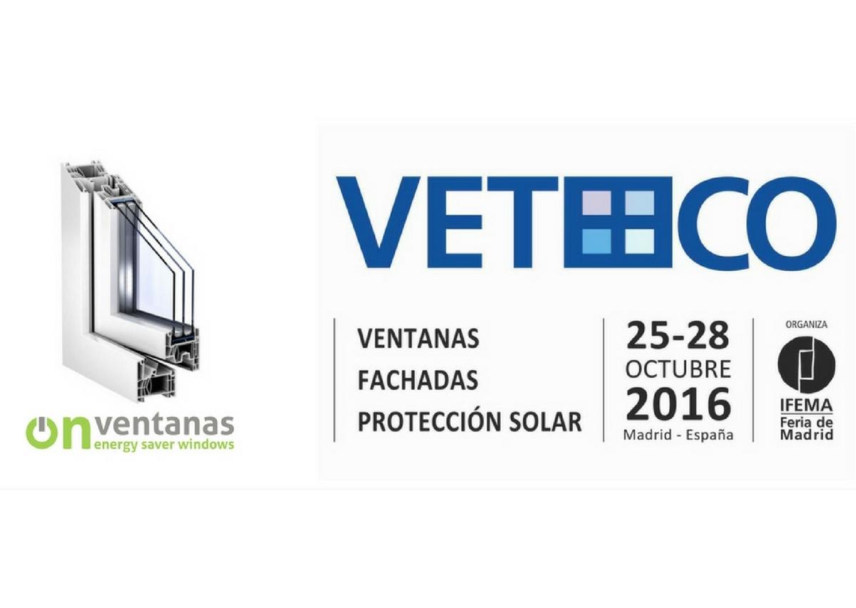 Onventanas te invita a Veteco 2016, donde presentaremos novedades en ventanas pvc
