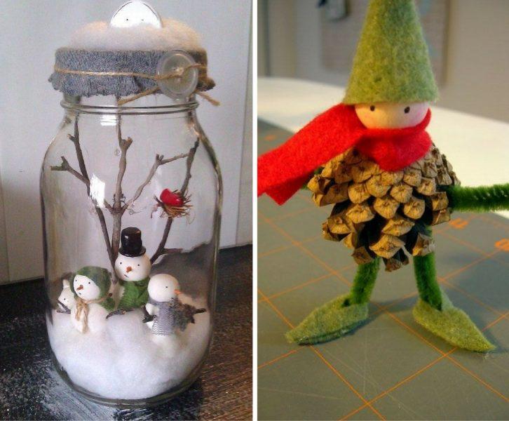 Decoraci n navide a con materiales reciclados ideas for Adornos navidenos hechos con reciclaje