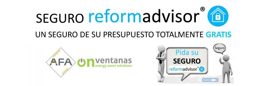 Presupuesto online de ventanas PVC - Seguro Reformadvisor