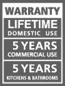 25 años de garantía para uso doméstico